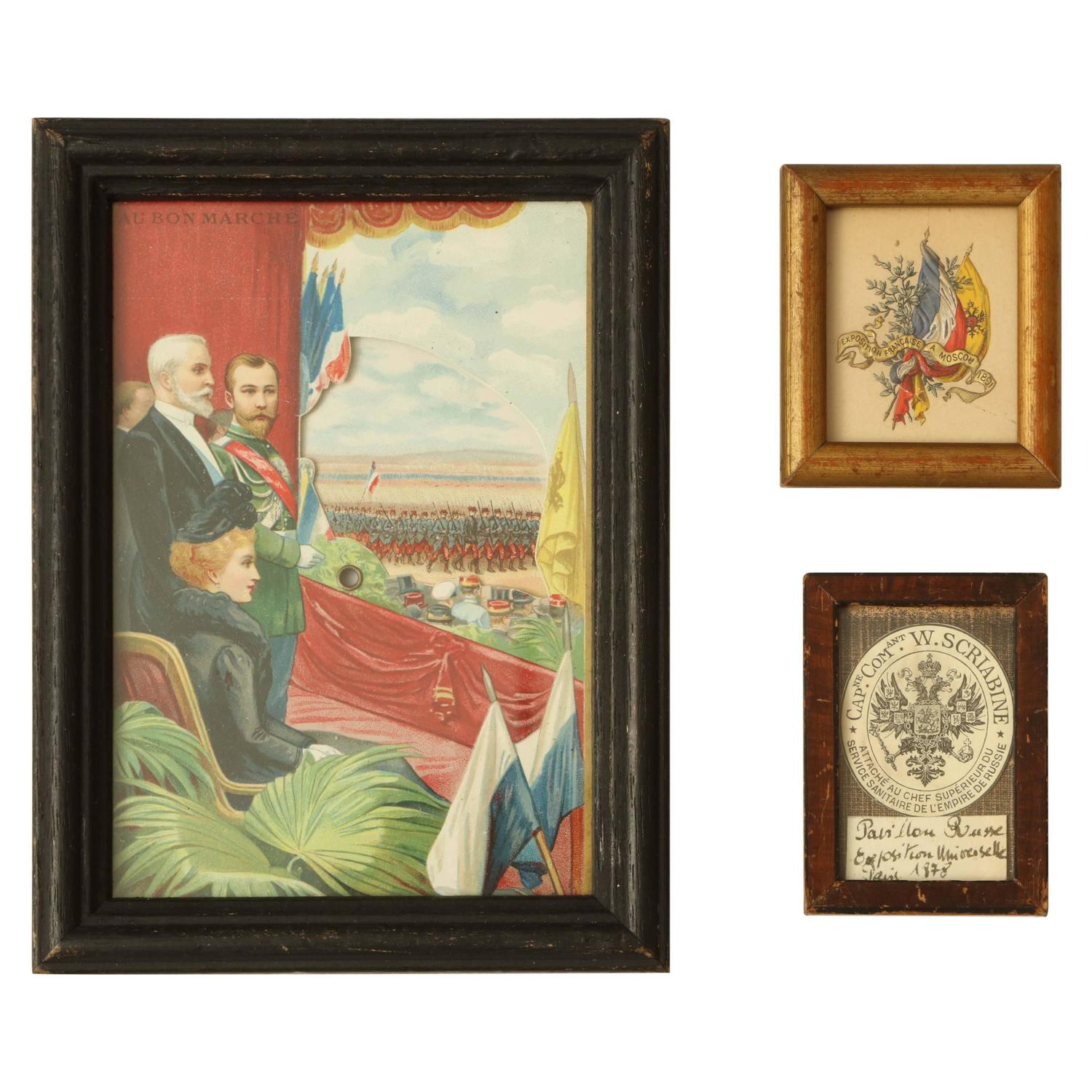 Three Commemorative items of Franco-Russian Memorabilia circa 1900 1