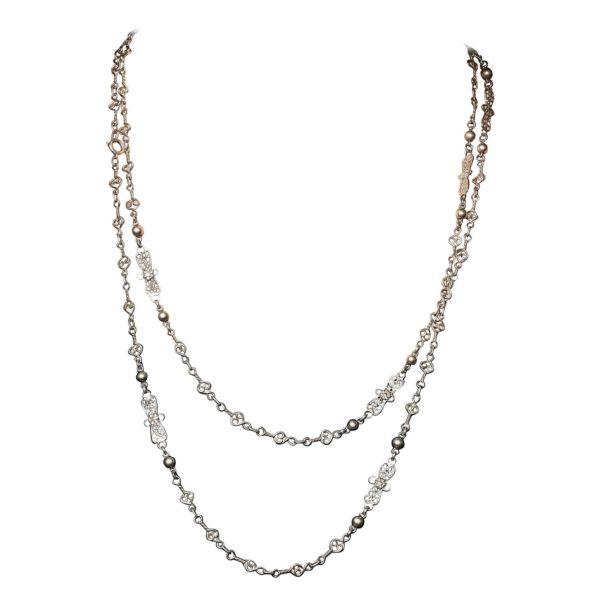 antique silver filigree necklace