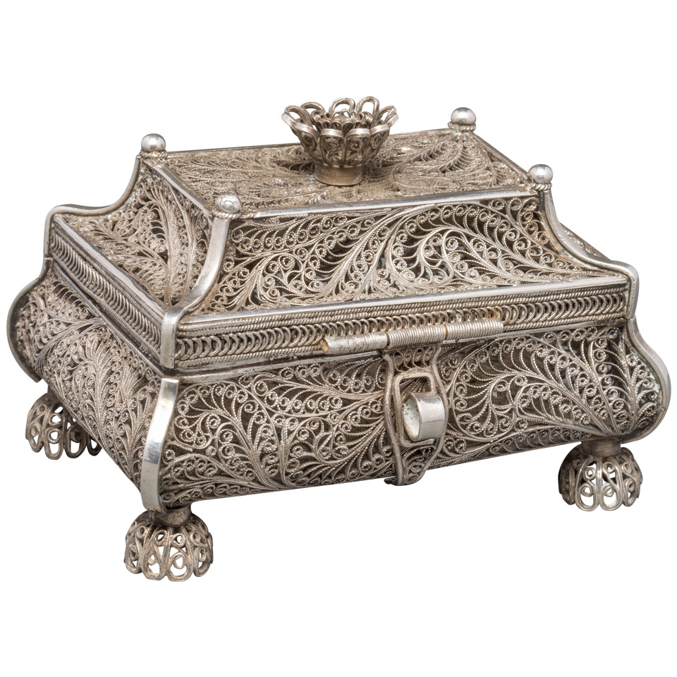 1858 Russian Silver Filigree Box 1
