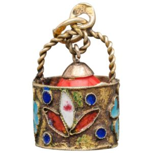Russian Jewelry Egg Pendant