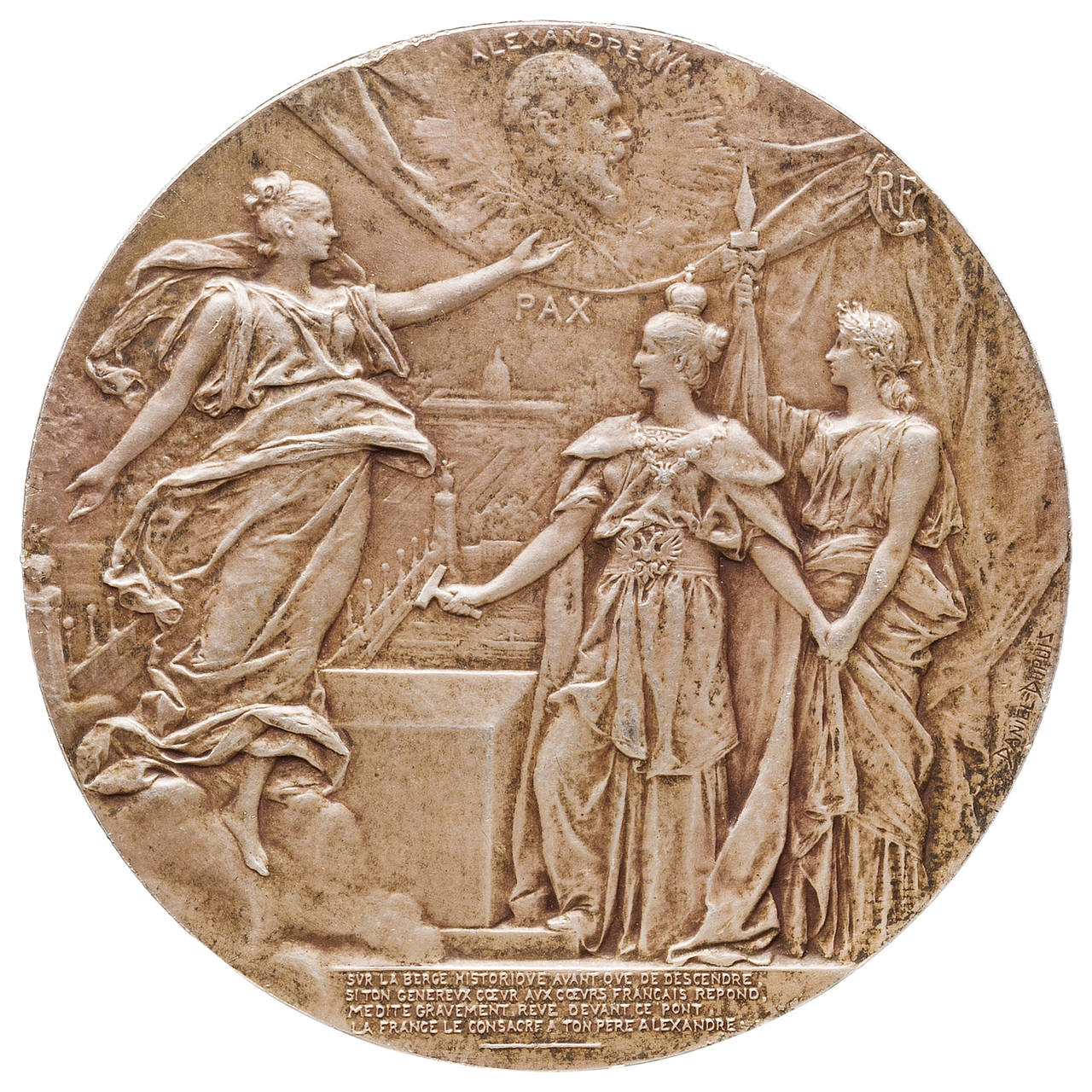 Franco-Russian Alexander III Commemorative Medal 1