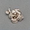 1950s French Diamond Gold Flower Pin, Paris