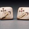 Russian Gold & Diamond Cufflinks, 1880s