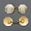 French Art Deco Gold Cufflinks, 1930s