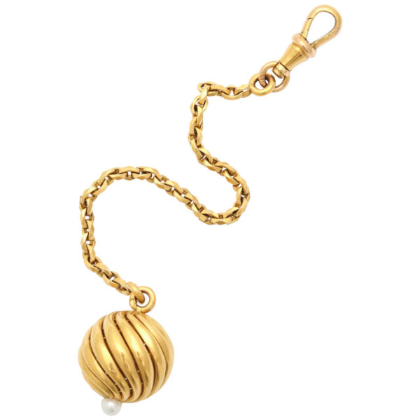 French Pearl Gold Fob/Zipper Pull