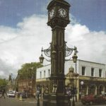 The Chamberlain clock sits dead center of the Jewellery Quarter on a roundabout, like a mini Big Ben.