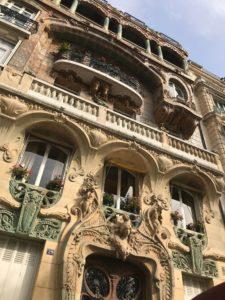 Art Nouveau Paris Building in Limestone